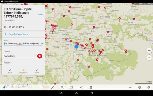 Beispiel POI auf Navi App
