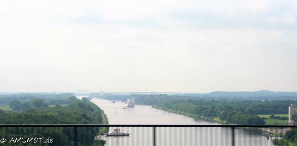 Toller Ausblick über das Land von der Kanalbrücke.