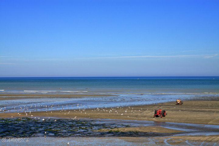 Blick auf den Strand von Saint-Aubin-sur-Mer