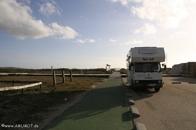 wohnmobile in O Grove spanien, beim überwintern