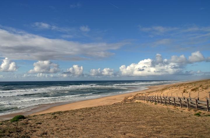 Frankreich längster Sandstrand einsame küste