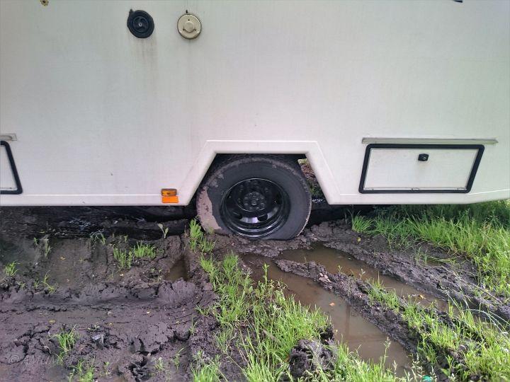 Die neuen Reifen schon eingesaut...
