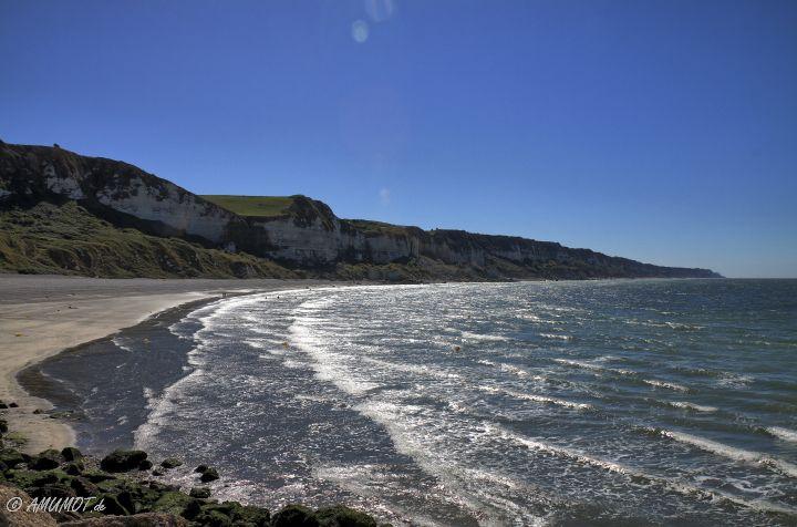 Kiesstrand an der Normandie