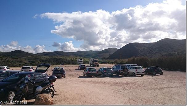 Parkplatz am Praia Amado