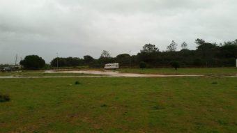 hochwasser am Strandparkplatz