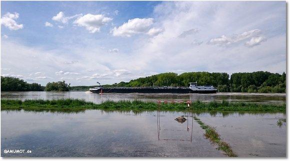 Schiffe bei hochwasser