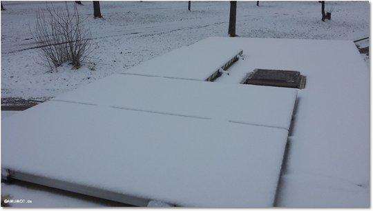 schnee auf dach