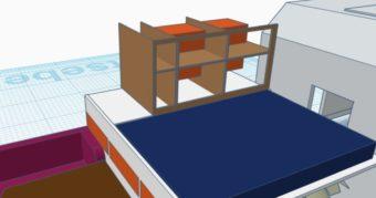 Bei diesem Schränke die vom Bett aus erreichbar sind, sparen Platz