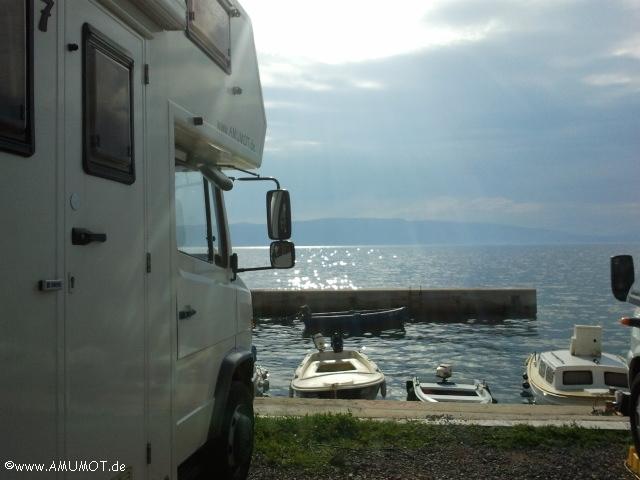 Wohnmobil in kroatien am meer
