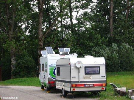 drehbare solaranlage auf wohnmobil