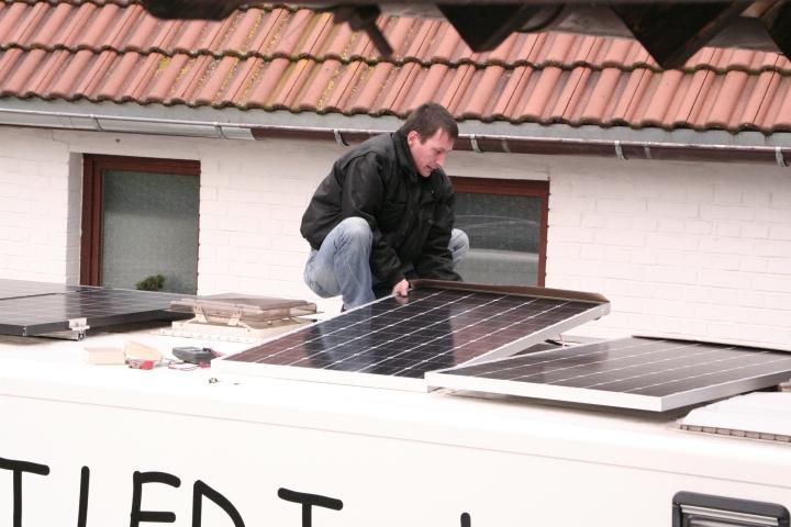 Solaranlage auf Wohnobil