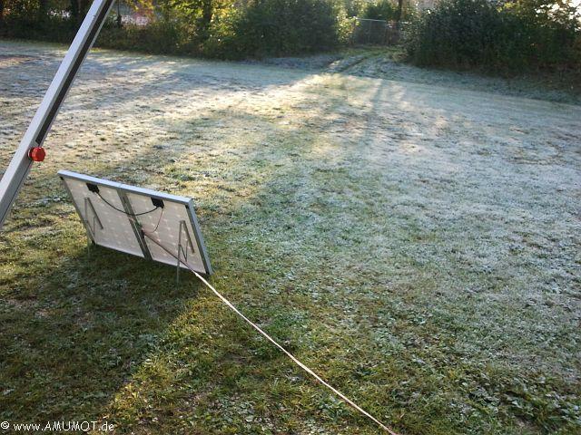 Solarkoffer im Schatten