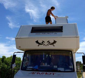 Solar auf dem Wohnmobil montieren