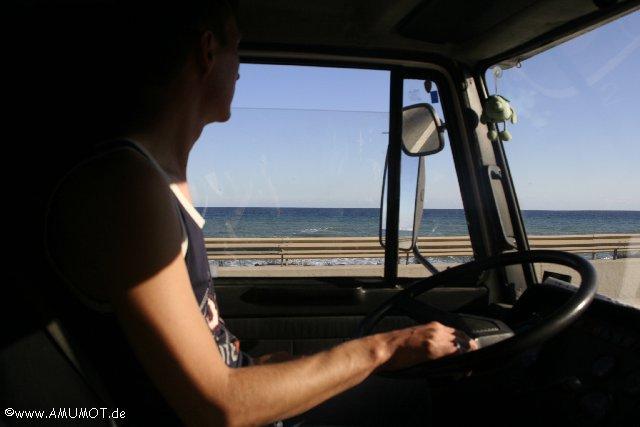 sommer sonne autofahren