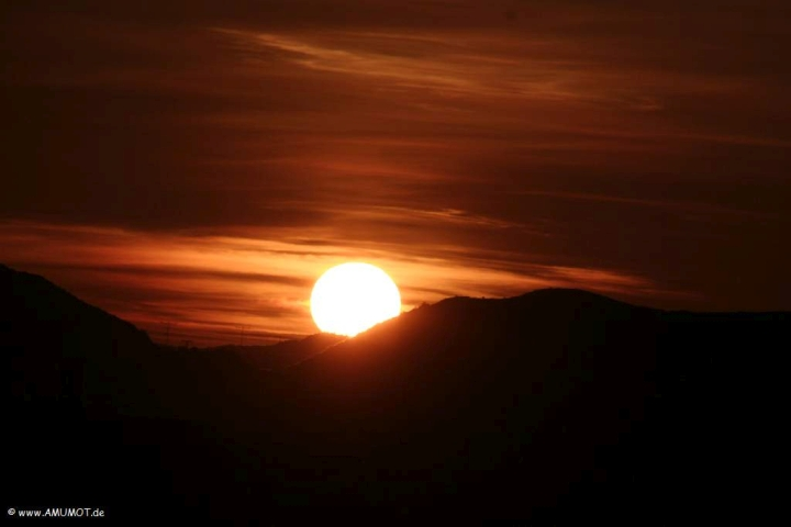 schöner Sonnenaufgang in Spanien