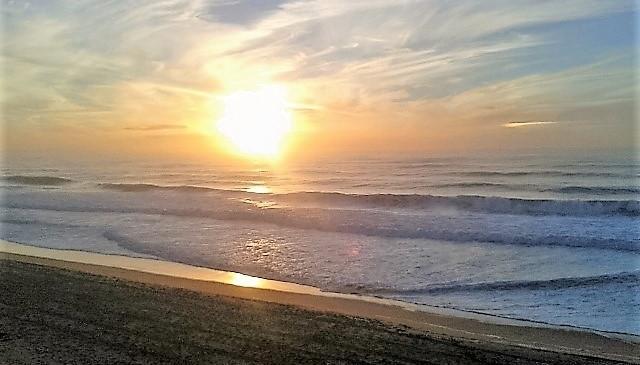Atlantik Sonnenuntergang am Strand