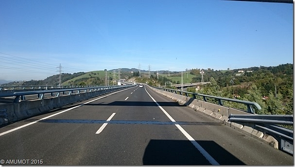 Auf der Autobahn nach Spanien