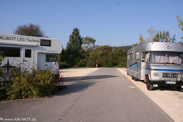 Stellplatz Heidenheim - rechts wohnt Rosi