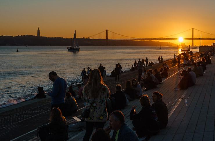 Sonnenuntergang Lissabon