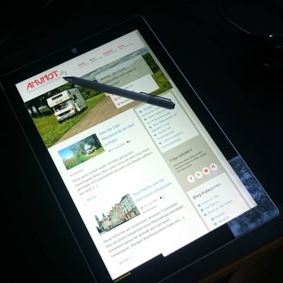 Surface Pro als Tablet