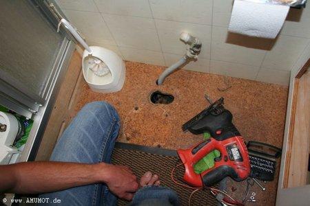 toilette im wohnmobil einbauen
