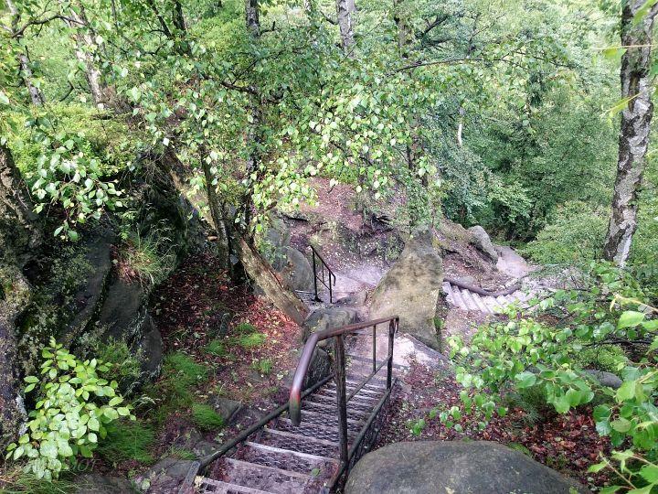 treppen in den bergen