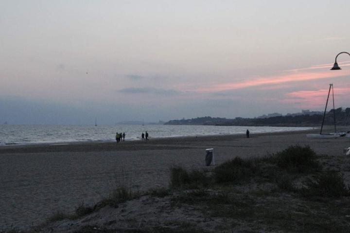 Sonnenuntergang an der Platja Llarga