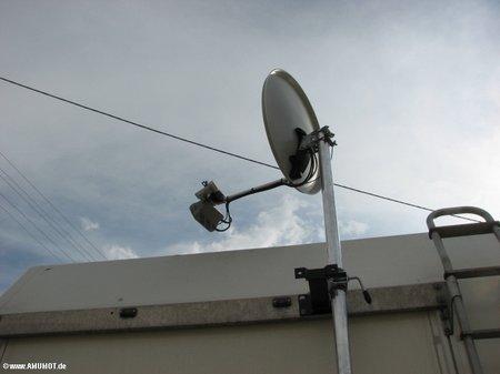 satelliten antenne von hand einstellen