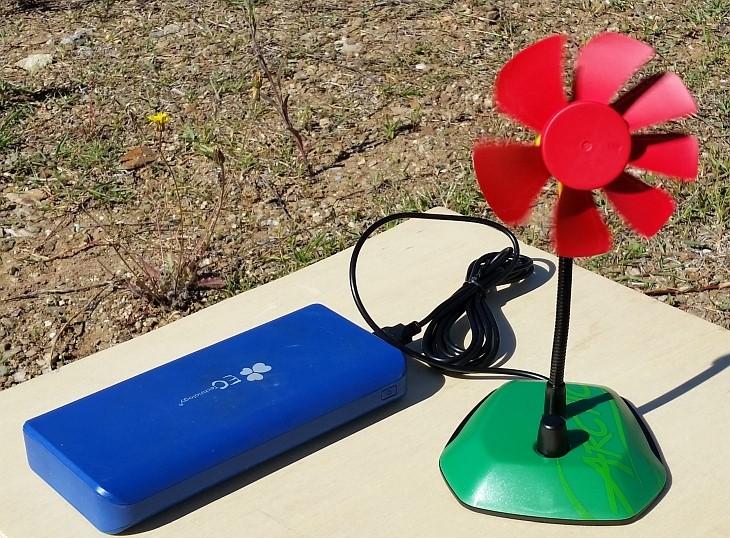 USB Ventilator mit Powerbank