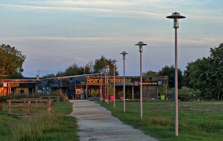 Eingang zum Vogelpark - Le Teich
