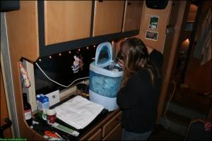 Wäsche im Wohnmobil waschen