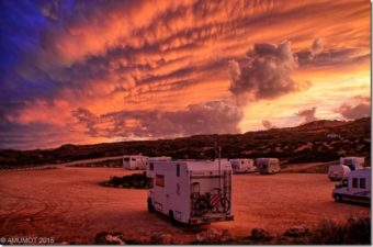 wolkenstimmung vor unwetter