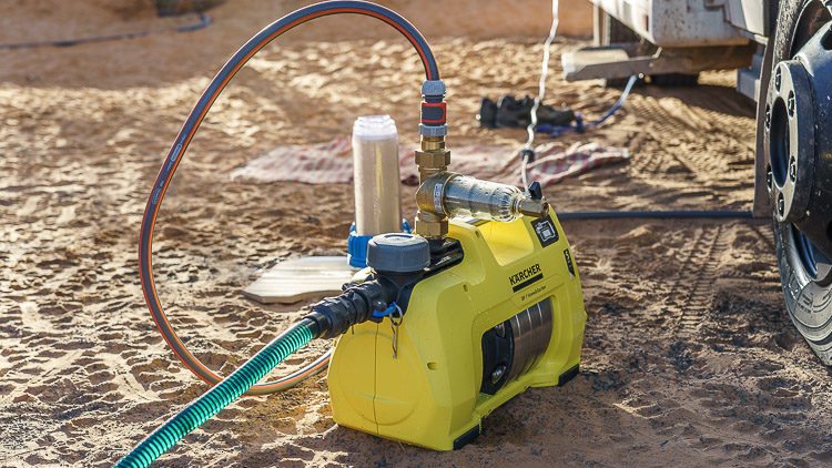 Vorfilter für Wasseraufbereitungsanlage im Wohnmobil