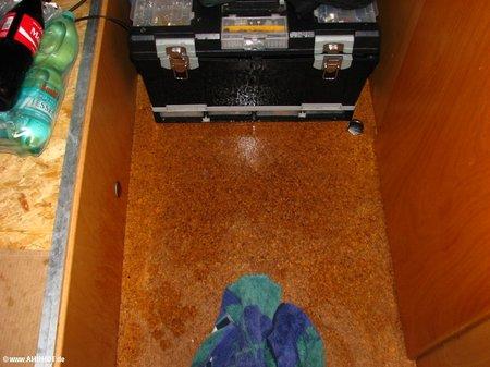 Wassereinbruch im Wohnmobil