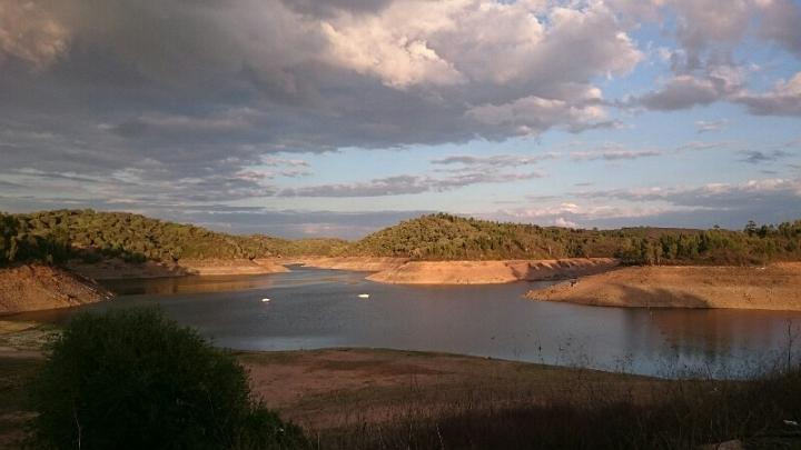 Der See ziemlich leer