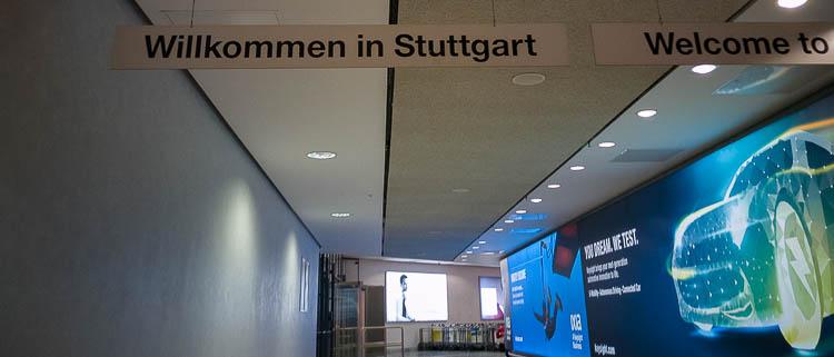 Ankunft am Stuttgarter Flughafen