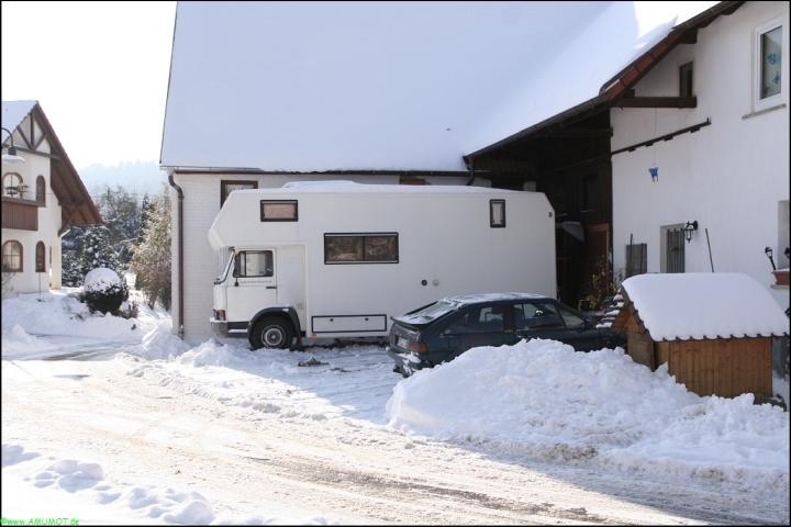 Wintercaming mit viel Schnee