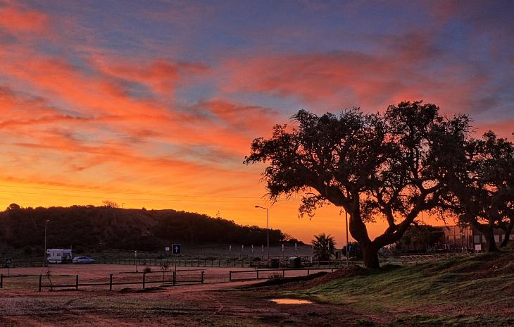 Überwintern in Portugal - Algarve Sonnenaufgang