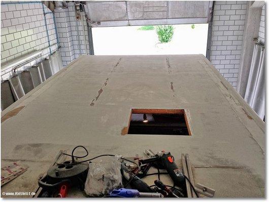 vrbereitetes Dach wohnmobil