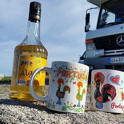 Wohnmobil Kaffeetassen und Mel