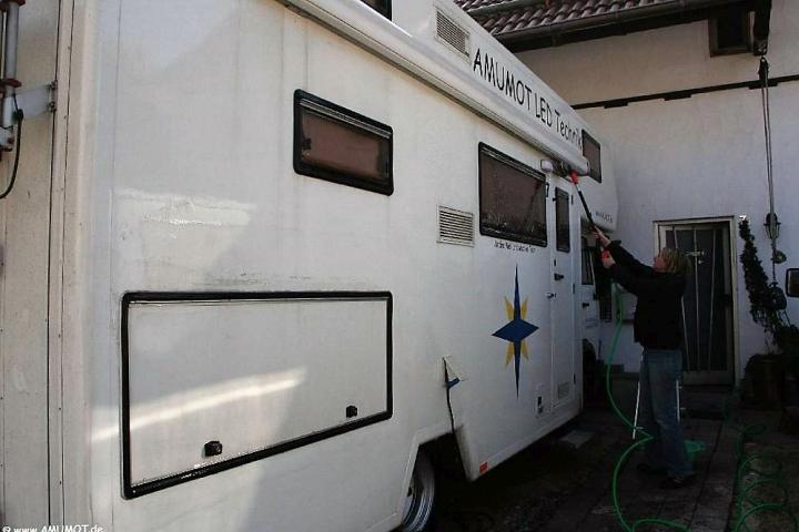 wohnmobil waschen