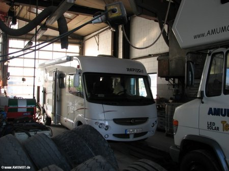 Wohnmobil service on tour